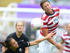 U.S. forward Abby Wambach says no to Powerade.