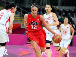 Diana Taurasi scored 22 points in the U.S. win against China on Sunday. She was one of six Americans to score in double figures.