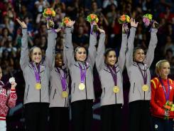 Jordyn Wieber, Gabby Douglas, McKayla Maroney, Aly Raisman and Kyla Ross were dubbed by some as the Fab Five after winning the women's all-around team gold medal.