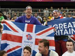 British fans are a cheerier lot because of the success of their countrymen in the Olympics.
