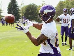 Vikings rookie wide receiver Greg Childs faces a long road to recovery after tearning tendons in both his knees.