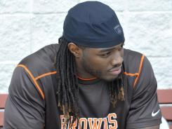 The Browns picked RB Trent Richardson third overall in April's draft.