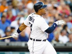 Miguel Cabrera hit his 11th home run since the All-Star break.