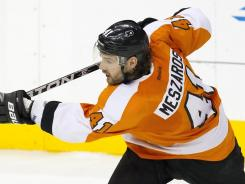 Andrej Meszaros brings physical play and a heavy shot to the Flyers.