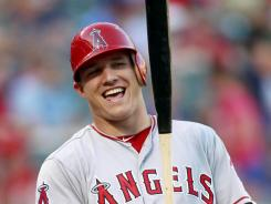 He's a keeper:  Outfielder Mike Trout has brought a lot of smiles to the Angels since being called up April 28. He has an AL-best .345 average with 20 home runs, 60 RBI, 87 runs and 36 stolen bases.