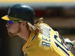 "Josh Reddick on the Athletics vying for an AL wild card slot: ""We just go out there and play our butts off every day, no matter whether it's Nolan Ryan or Joe Schmuck out there."""