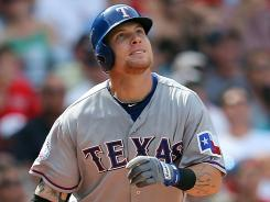 Josh Hamilton homered for just the second time in 19 games.