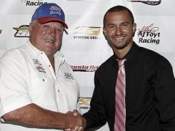 Chase Austin, right, will drive for venerable team owner A.J. Foyt at next year's Indy 500.