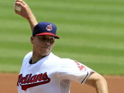 Indians' Justin Masterson (8-10) allowed two runs and three hits in seven innings.