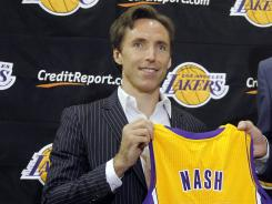 Steve Nash said his move the Lakers was sealed once Kobe Bryant gave his approval.