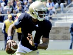 Notre Dame quarterback Everett Golson is the front runner to win the starting job.