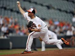 Orioles pitcher Steve Johnson made his first major league start Wednesday night against the Mariners.