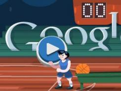 Shoot hoops with Google's latest Olympics-themed doodle.