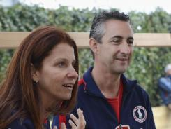 Lynn (left), and Rick Raisman , parents of Alexandra Raisman , recount their excitement watching their daughter's performance in gymnastics during the London 2012 Olympic Games.