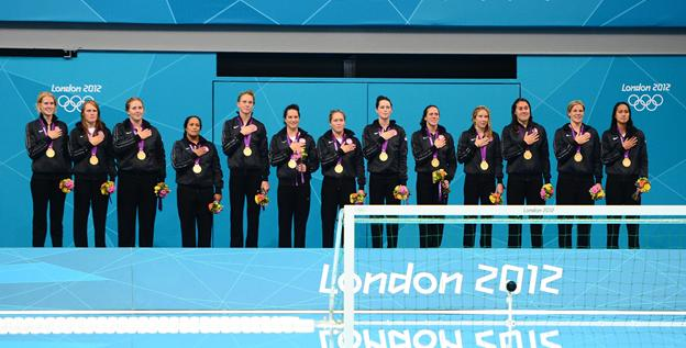 The U.S. women's water polo team secured their first gold medal Thursday after taking silver in 2000 and 2008 and bronze in 2004.
