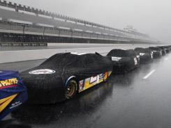 The nine victims of the lightning strikes after the Pennsylvania 400 have been released from hospitals, according to the track.