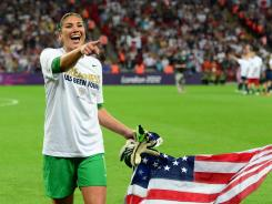 Goalkeeper Hope Solo made a number of crucial saves, sealing the USA's third consecutive gold medal.