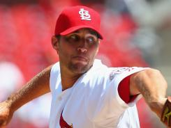 Adam Wainwright (10-10) allowed one run and five hits, striking out seven and walking three.