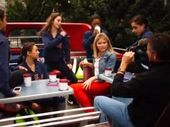 McKayla Maroney and the U.S. women's gymnastics team teach Jenna Bush how to Dougie.
