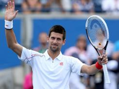 Novak Djokovic salutes the crowd after beating Sam Querrey on Friday in the Rogers Cup in Toronto.
