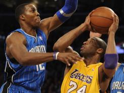 With Dwight Howard now a Laker, Kobe Bryant doesn't have to worry about dealing with his stifling defense.