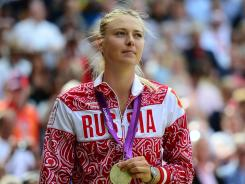Maria Sharapova won a silver medal in women's singles in the London Olympics last weekend.