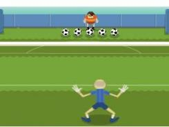 Thursday's Google doodle is an interactive soccer game.