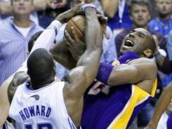 With Dwight Howard on his team now, Kobe Bryant won't have to deal with his stifling defense anymore?