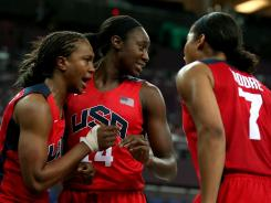 Tamika Catchings, Tina Charles and Maya Moore look to deliver the U.S. women's basketball team its fifth consecutive gold medal.