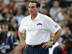 Mike Krzyzewski has said he'll step down as coach of the U.S. men's basketball team after the London Olympics.