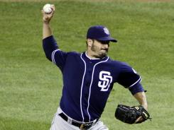 Padres starter Jason Marquis took a no-hit bid into the seventh inning and walked away with a two-hit shutout.