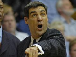 Villanova coach Jay Wright, shown Feb. 2, 2010, said in a statement that Doug Martin had taken responsibility for his mistake.