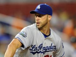Dodgers' Chris Capuano had a no-hitter until Jose Reyes lined a single to center field with one out in the seventh.