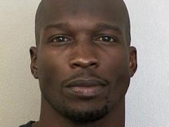 Miami wide receiver Chad Johnson's mugshot after he was arrested and charged with domestic violence.
