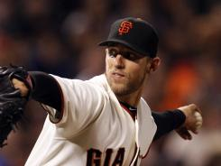 Giants starting pitcher Madison Bumgarner is 12-7 with a 3.08 ERA this season.