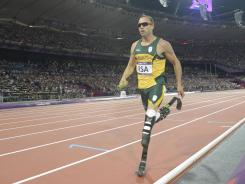 Oscar Pistorius, who competed in the 400 and the 4x400 relay, was chosen to carry the flag for South Africa in the closing ceremony.