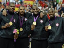 Kevin Durant, Carmelo Anthony, LeBron James and Kobe Bryant led the U.S. men's basketball team to its second consecutive gold medal.