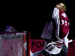 Goalie Jean-Sebastien Giguere is coming off his first season with the Colorado Avalanche.