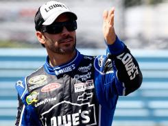 Jimmie Johnson hadn't been higher than third in points all year until taking the lead Sunday at Watkins Glen.