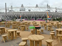 "Olympic Park was empty Monday, the day after the Games ended with a raucous ceremony at the stadium. ""The dream is now a memory,"" The Guardian wrote."