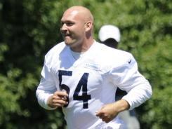 Bears middle linebacker Brian Urlacher has been rehabbing his knee since the end of the 2011 season.