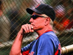  Discord: Bobby Valentine, watching batting practice Tuesday in Baltimore, has rubbed some Red Sox the wrong way.