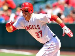 Angels center fielder Mike Trout has most of his fantasy teams in first but could help the others by serving as trade bait.