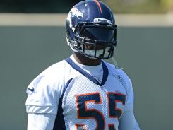 D.J. Williams' legal problems have cost him practice reps with the Broncos.