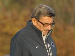 "Joe Paterno, a new book says, was called ""omniscient and a figurehead, hero and fraud, SaintJoe and the devil."""
