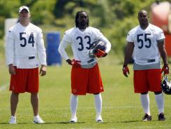 Brian Urlacher (54), Charles Tillman (33) and Lance Briggs (55) each made the Pro Bowl last season as 30-something defenders.