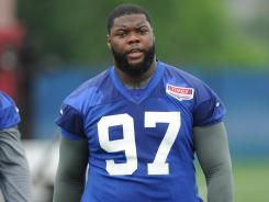Defensive tackle Linval Joseph is among the New York Giants who point to the team-supplied mattresses for issues with their backs during their training camp stay at the University of Albany (N.Y.).