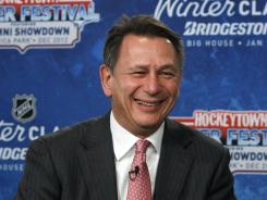 Red Wings general manager Ken Holland, shown in February, says the Wings canceled the Prospects Tournament because of the uncertainty of the labor situation.