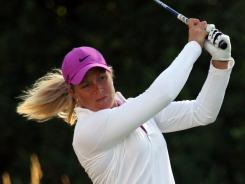 Suzann Pettersen of Norway, shown here in July at the U.S. Women's Open, leads the field this week at the Safeway Classic.