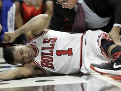 Derrick Rose tore his ACL during the Bulls' first-round playoff series.